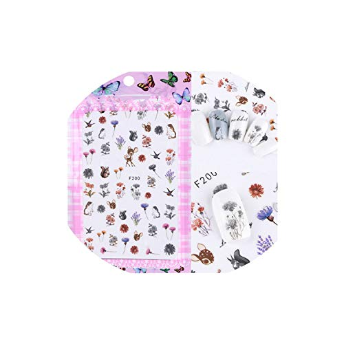 Mangoran Nail Sticker 1Pcs 3D Sweet Beauty Flower Art Slider Tips Optional Firebird/Flower Foils Decor -