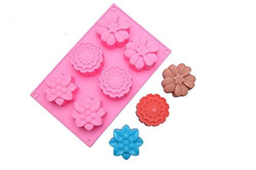 FantasyDay Premium Flower Mooncake Mold Silicone Baking Molds