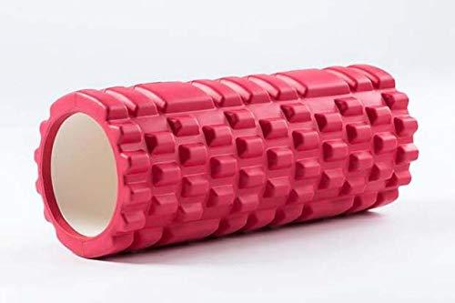 Schaumwalze Für Tiefe Muskel Massage, Um Die Genesung Ultra Leicht Hohl Kern Muskel Walze Für Home-Gym Pilates Yoga Atheletes Auslöser Punkt Walze 14 X 33 cm,ROT