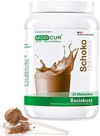 Modicur Diätshake zum Abnehmen   Schokolade Protein Pulver   24 Portionen Mahlzeit Ersatz inkl. Messlöffel   Ideal...