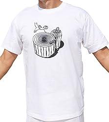 RaanPahMuang Nature Log MC DJ Wear Rocky T-Shirt , Large, White