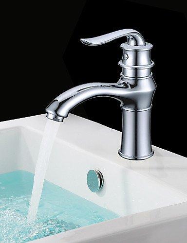 shengbaier Zeitgen?ssische Messing Waschbecken Wasserhahn - Chrom-Finish (kurz)