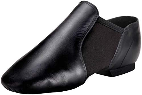 Linodes (Tent Leather Upper Jazz Shoe Slip-on for Women and Men's Dance Shoes