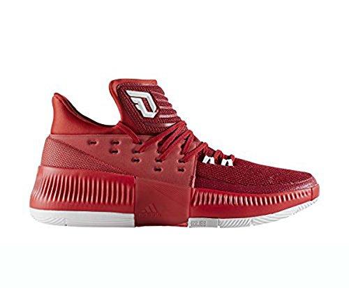 adidas Dame 3 Schuh Männer Basketball Rot / Weiß / Grau