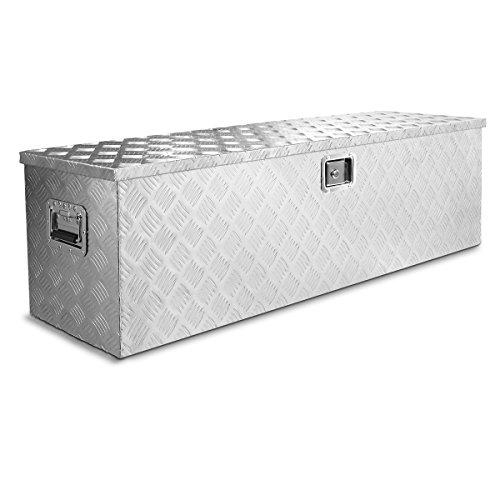 Stark Industrial 48-Inch Aluminum Truck Underbody Flatbox Pickup Tool Box RV ATV Trailer Tool Storage Lock with Keys