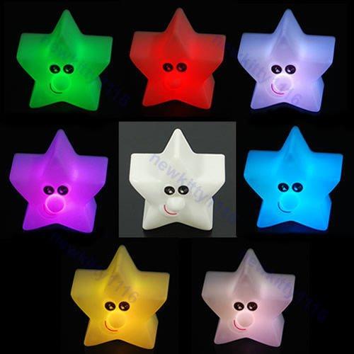 Fogun Étoile Brillante Mignonne LED Lampe Veilleuse Décor de fête Cadeau pour Enfants , 7 Lumière de Couleur