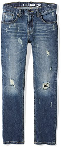 Kid Nation Boys' Stretch Denim Skinny Jean 20 Canal