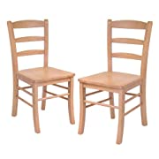 Winsome Wood Ladder Back Chair, Light Oak, Set of 2