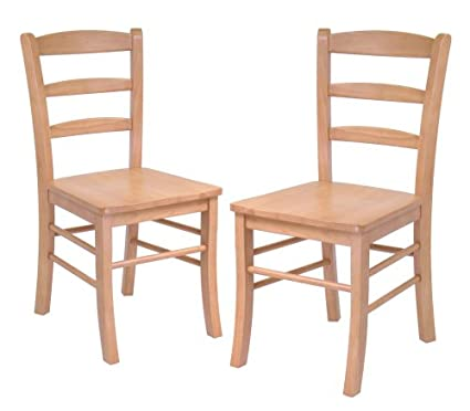 Etonnant Winsome Wood Ladder Back Chair, Light Oak, Set Of 2