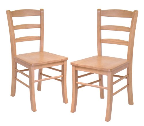 Winsome Wood Ladder Back Chair, Light Oak, Set of 2 by Winsome Wood