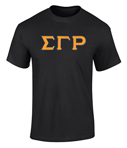 Fashion Greek Sigma Gamma Rho Twill Letter Tee Black for sale  Delivered anywhere in Canada