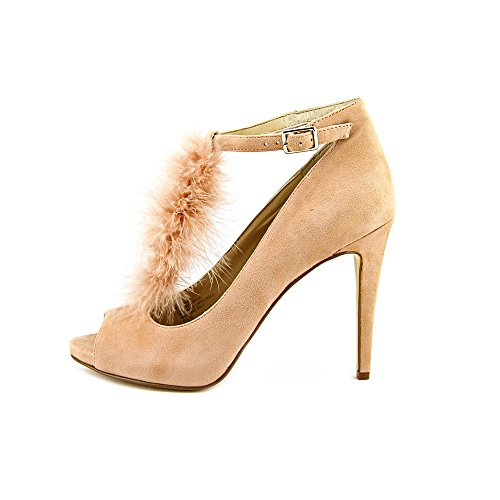 Inc Internationella Koncept Kvinna Shia Peep Toe Ankelbandet Klassiska Pumps Rodna