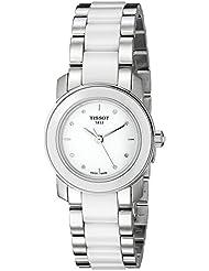 Tissot White Dial Stainless Steel Quartz Ladies Watch T0642102201600