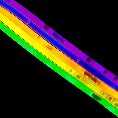 Lumistick Premium 22 Inch Glow Stick Necklaces with Connectors | Kid Safe Non-Toxic Glowstick Necklaces Party Pack | Available in Bulk and Color Varieties | Lasts 12 Hours (Color Assortment, 600) by Lumistick (Image #9)