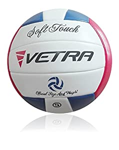 VETRA Volleyball Soft Touch Volley Ball Official Size 5 Outdoor Indoor Beach Gym Game Ball  by VETRA
