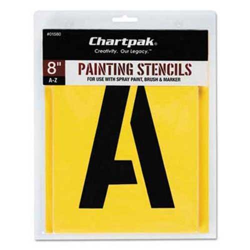 Chartpak Painting Stencil (Chartpak Painting Stencil Set, A-Z Set, Manila, 26/Set)