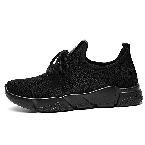 on Mesh Sneakers Lightweight Women Walking Breathable Black916 and Slip DRKA Shoes Athletic zqpwxRxg