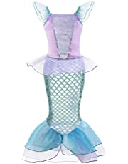 Padete Little Girl Mermaid Princess Costume Sequins Party Dress