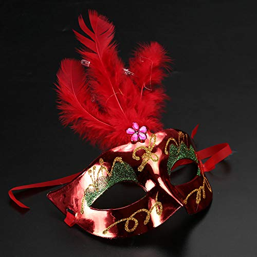 SaveStore Luminous LED Princess Mask Female Women Masquerade Ball Maksks Mascaras Disfraces Halloween Christmas Party Supplies for $<!--$10.69-->