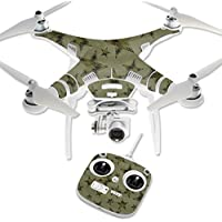 MightySkins Protective Vinyl Skin Decal for DJI Phantom 3 Standard Quadcopter Drone wrap cover sticker skins Army Star