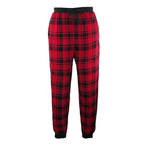 Hanes Men's Jogger Style Lounge Pajama Pants, XL, Red