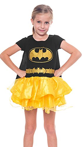 [Girls Superhero Batgirl Caped Tutu Costume Dress (Batgirl, Large 10/12)] (Tutu Halloween Costumes For Teenage Girls)
