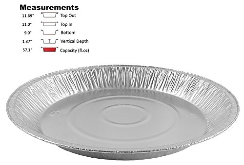 Pactogo 12'' Aluminum Foil Pie Pan Extra-Deep Disposable Tin Plates (Pack of 25) by PACTOGO (Image #1)