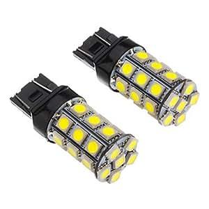 GD 2pcs T20 7443 27x5050SMD luz 100-250LM blanca Bombilla para el coche (12V) LED
