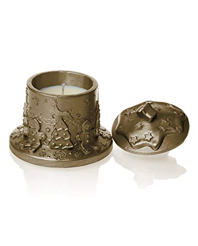 Candellana Candles Concrete Gingerbread House Candle Brass