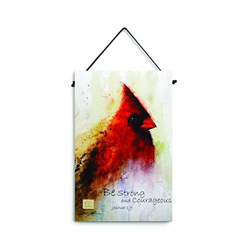 Big Sky Carvers Joshua 1:9 Cardinal Inspirational Wall Plaque