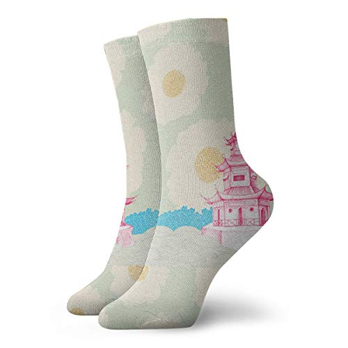 Chinese Wind Tower Ankle Socks Casual Funny For Sports Boot Hiking Running Etc.