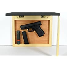 Traditional picture frame, hidden compartment furniture, every day carry organizer, secure weapon vault, hinged cavity, hardwood light back