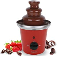 Ovente CF43SR Stainless Steel Chocolate Fondue Fountain, Red