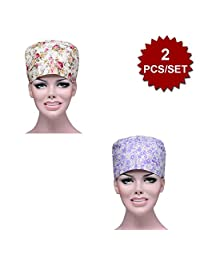 Opromo Unisex Scrub Hat Scrub Cap With Adjustable Tie, One Size Multiple Color