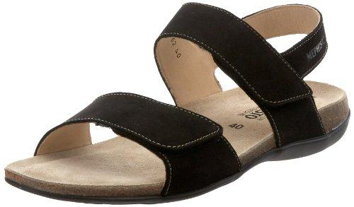Sandals Mephisto Nubuck Agave Black Womens qYv1H