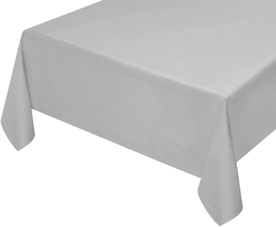 EMMEVI Nappe Cuisine Anti-Taches Effet Tissu Coton Doux plastifi/ée Ultra r/ésistant diff/érentes mesures uni cm 140X50 Beige
