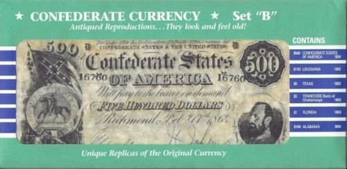 Review Confederate Currency Antiqued reproduction Looks old and feels old unique replicas of the original currency