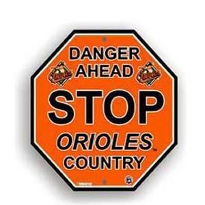 Baltimore Orioles Stop Sign