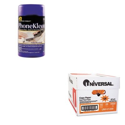 KITREARR1403UNV21200 - Value Kit - Read Right PhoneKleen Wet Wipes (REARR1403) and Universal Copy Paper (UNV21200) (Phonekleen Wipes Wet)