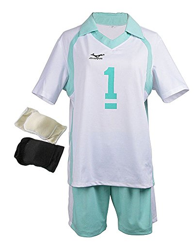 [TOKYO-T Haikyuu Costume Uniform Oikawa Cosplay with Knee Pads (US10-12)] (Larger Ladies Halloween Costumes)