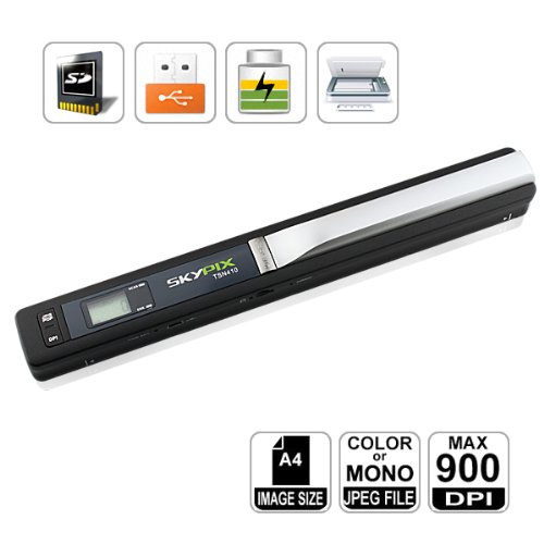 High Resolution 900DPI Portable Scanner, Mini SKYPIX Handy Handheld, A4 Color Photo, Easy to Instantly Scan and Digitize Anything HooToo® SKYPIX-410