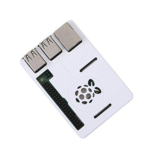 (Raspberry Pi 3 Model B+ Case ABS Case Ultra-thin Shell for RPI 3 Model B+ and Model B (White))