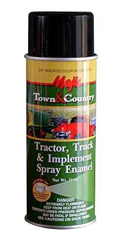 Iron Black Enamel - Majic Paints 8-20994-8 Tractor & Implement Spray Enamel Paint, Aerosol, Gloss Black