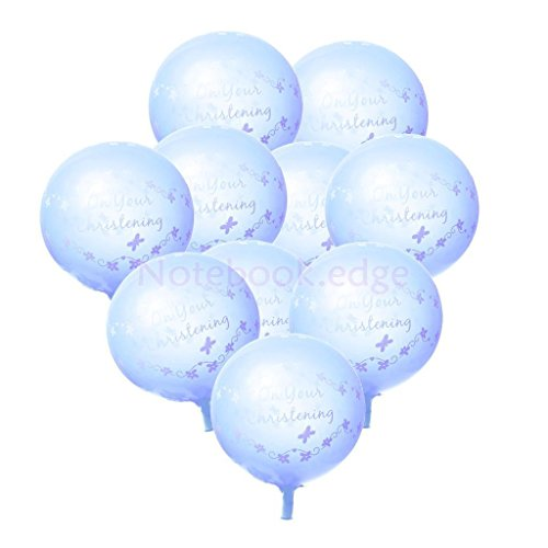 10pcs On Your Christening Latex Balloons Party Decorations Blue - 1