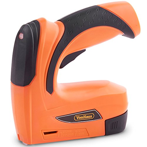 VonHaus 3.6V Cordless Nailer & Stapler/Tacker/Staple & Nail Gun 2-in-1 with...