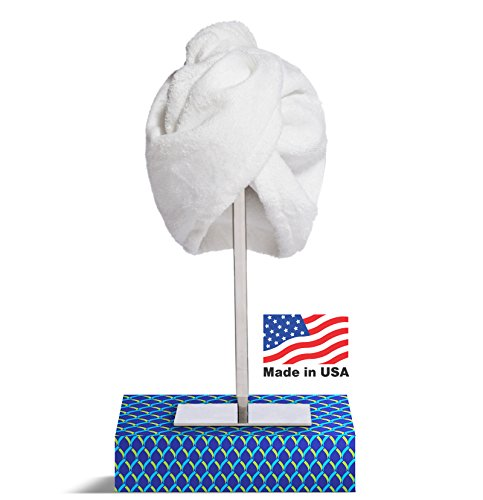 ENWRAPTURE The Only Luxury Hair Towel Wrap Made In USA   Swarovski Button   Nanofiber Beats Microfiber To Dry Wet Hair Fast   Twist Turban In 2 Easy Styles   Large For Long Or Curly   GIFT Travel Case by TURBELLA (Image #1)