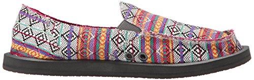Sanuk Womens Donna Tribal Flat Magenta / Multi Tribal Stripe