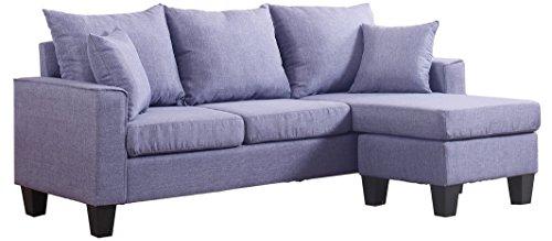 Amazon Com Divano Roma Furniture Modern Linen Fabric Small Space