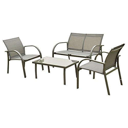 Giantex 4 pcs outdoor patio garden furniture set steel for Sofa exterior amazon