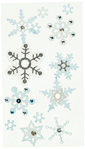 JOLEES Boutique Vellum Layered Dimensional Stickers, Snowflakes
